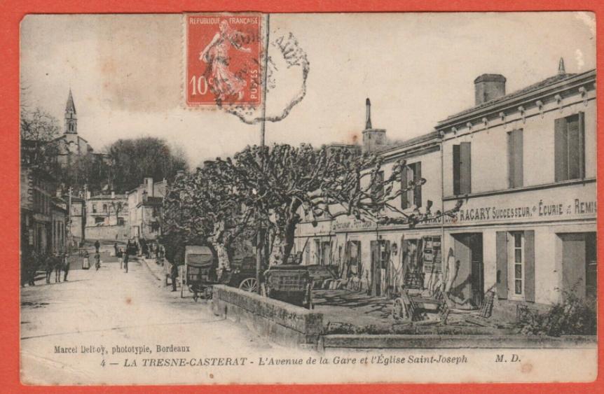 Avenue de la Gare et l'Eglise Saint-Joseph